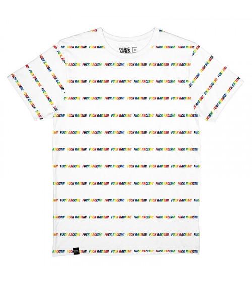 Dedicated T-shirt Stockholm Fuck Racism Stripes