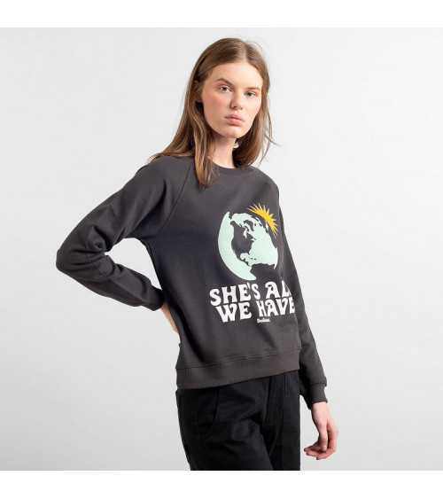 Dedicated Sweatshirt Ystad Raglan Akke We Have Charcoal