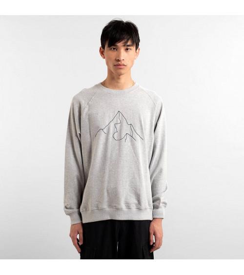 Dedicated Sweatshirt Malmoe Mountain Grey Melange
