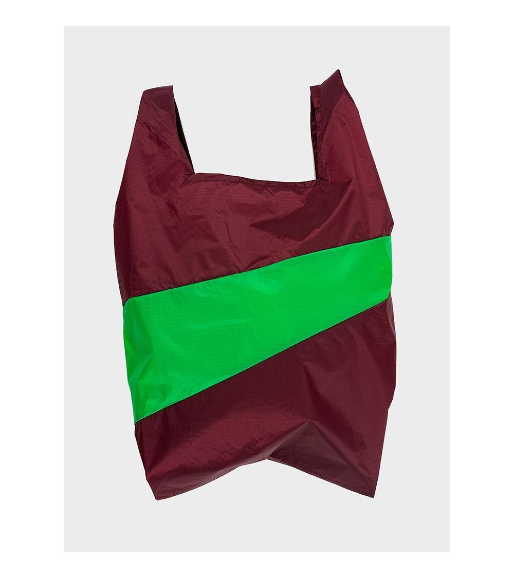 Susan Bijl Shoppingbag Burgundy & Greenscreen