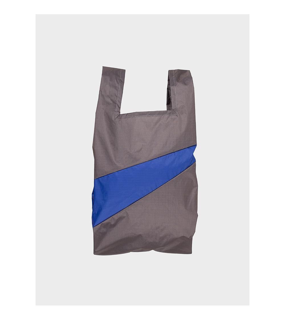 Susan Bijl Shoppingbag Warm Grey & Electric Blue