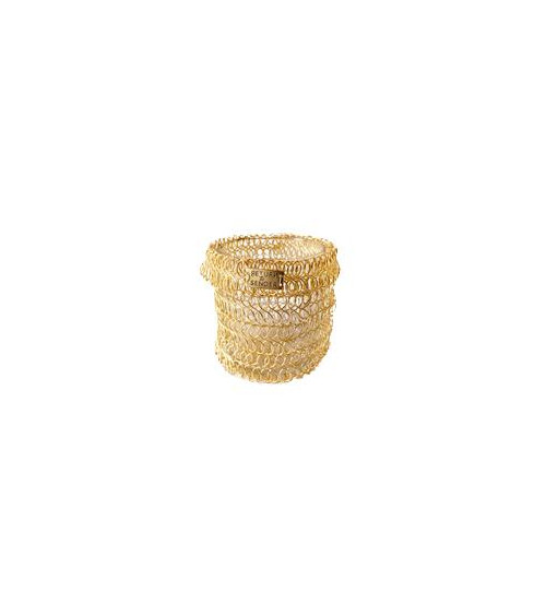 copy of Return to Sender Gold woven tealight wide