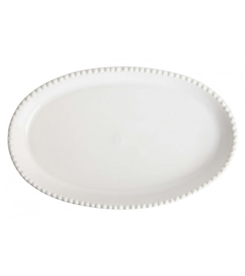 Return to Sender Oval serving dish white