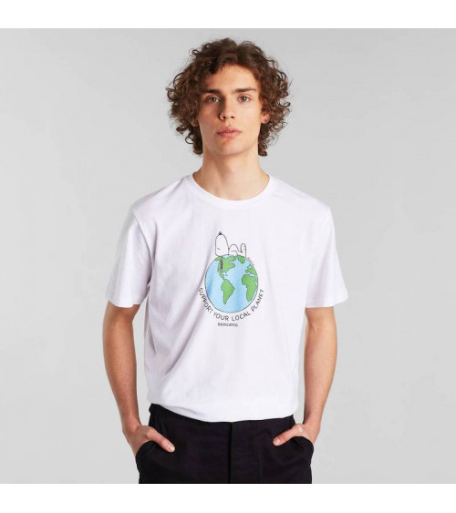 T-shirt Stockholm Snoopy Earth Wit
