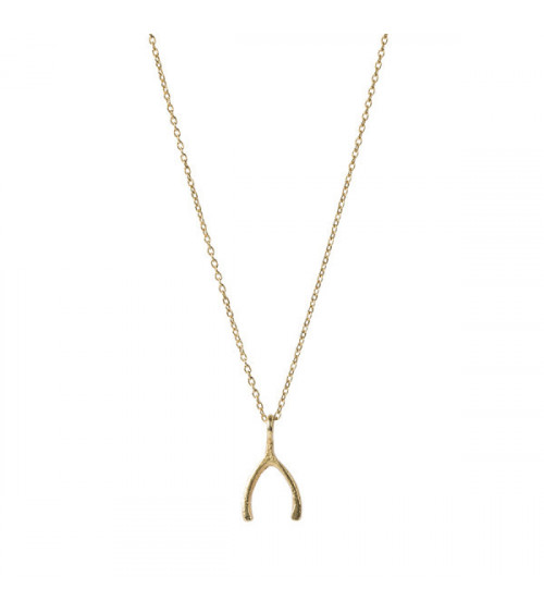 A Beautiful Story Delicate Wishbone SGP Necklace