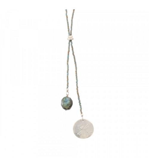 A Beautiful Story Fairy Rose Quartz Lotus Silver Necklace