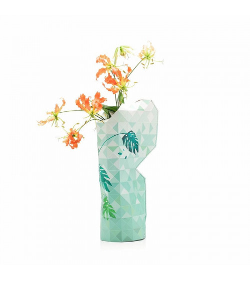 Tiny Miracles Paper Vase Jungle Leaves