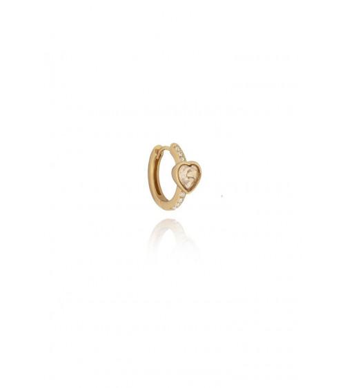 T.I.T.S. Crystal Love Earring Golden Shadow