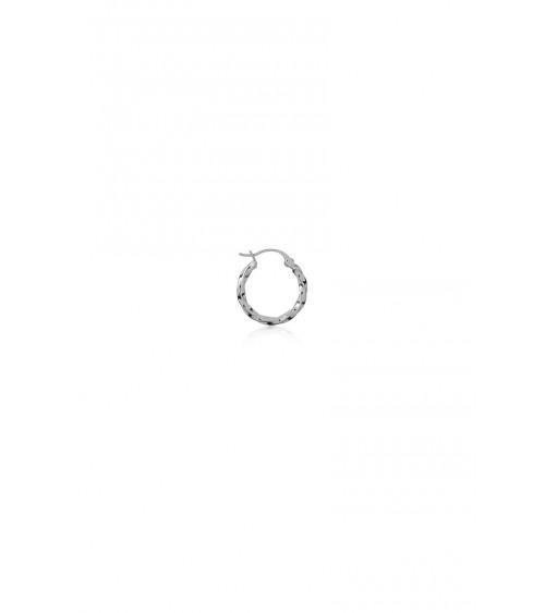 T.I.T.S. Twist Hoop Small - Silver