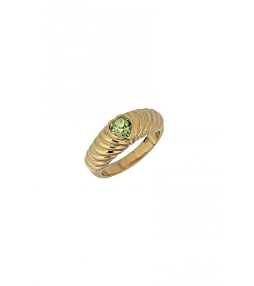T.I.T.S. Croissant Heart Ring
