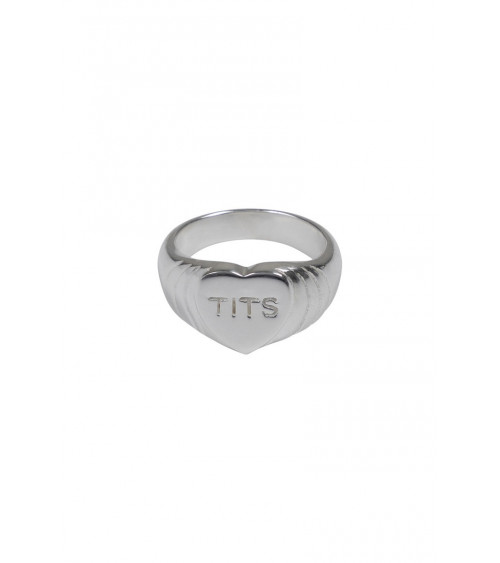 T.I.T.S. Big Heart Ring - Silver