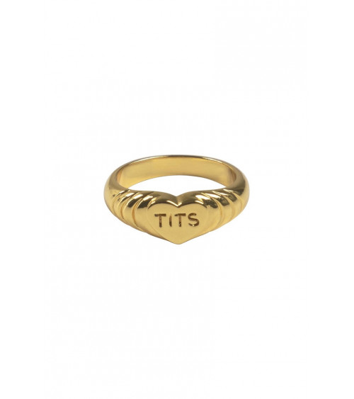 T.I.T.S. Pink Heart Ring - Goud