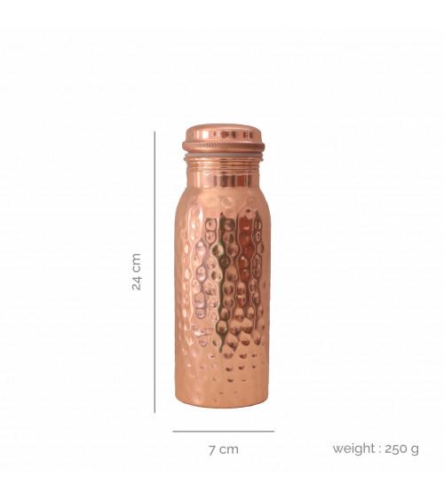 Forrest & Love Hammered Copper Water Bottle 600 ML