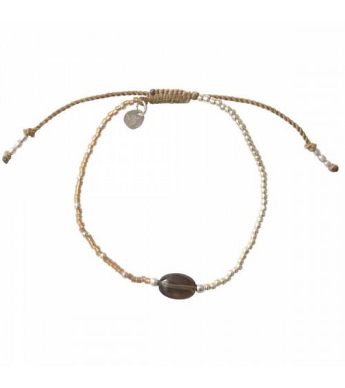 A Beautiful Story Ruby Smokey Quartz Silver Bracelet