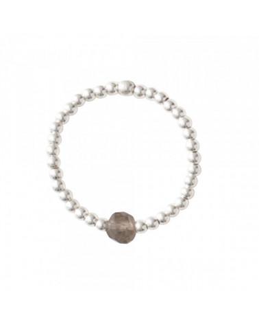A Beautiful Story Sparkle Smokey Quartz Silver Ring