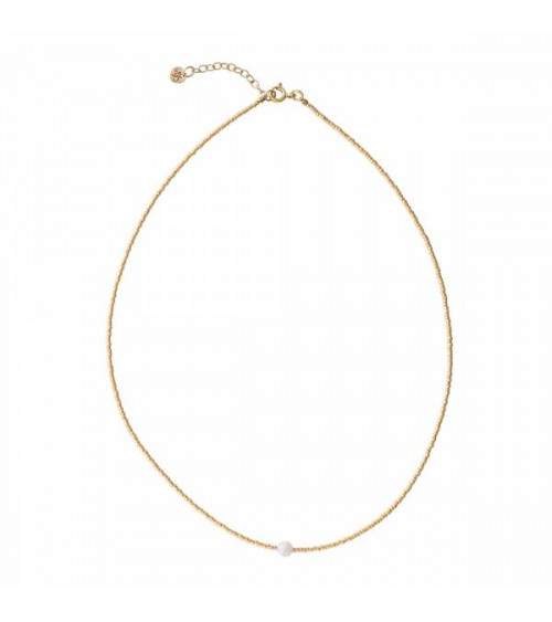 A Beautiful Story Flora Moonstone Gold Necklace