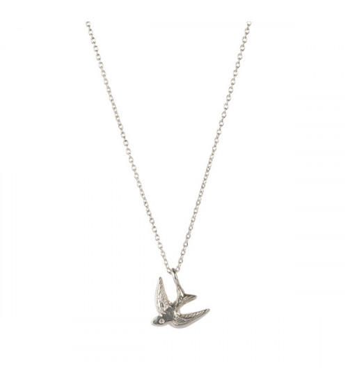 A Beautiful Story Delicate Swallow Sterling Silver Necklace