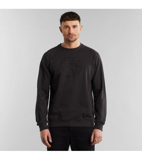 Dedicated Sweatshirt Malmoe Globe Charcoal