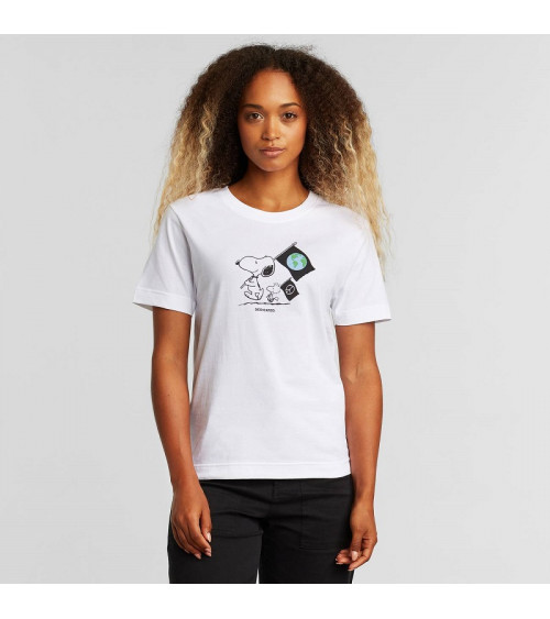 Dedicated T-shirt Mysen Snoopy Flags White
