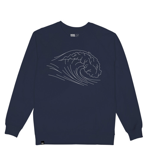 Dedicated Sweatshirt Malmoe Stitched Wave