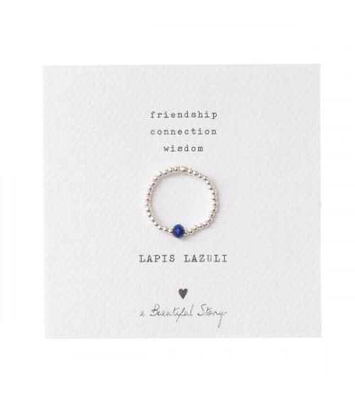 A Beautiful Story Sparkle Lapis Lazuli Zilver Ring