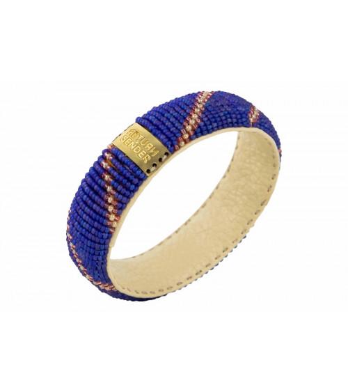 Return to Sender Beaded bracelet broad dark blue/pink
