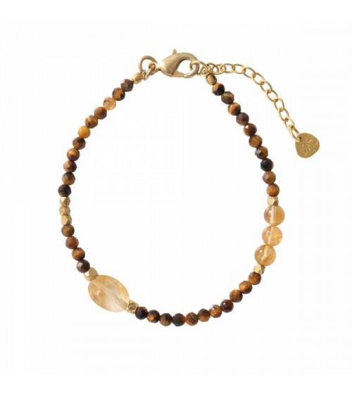 A Beautiful Story Sweet Tiger Eye/Citrine Gold Bracelet