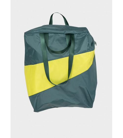 Susan Bijl Stash Bag Pine & Fluo Yellow