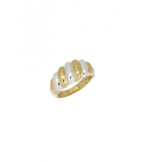 T.I.T.S. Twist Gold & Silver Ring