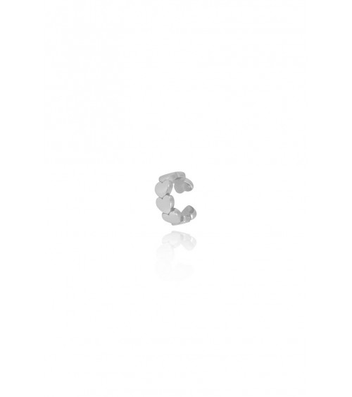 T.I.T.S. Heart Ear Cuff - Zilver