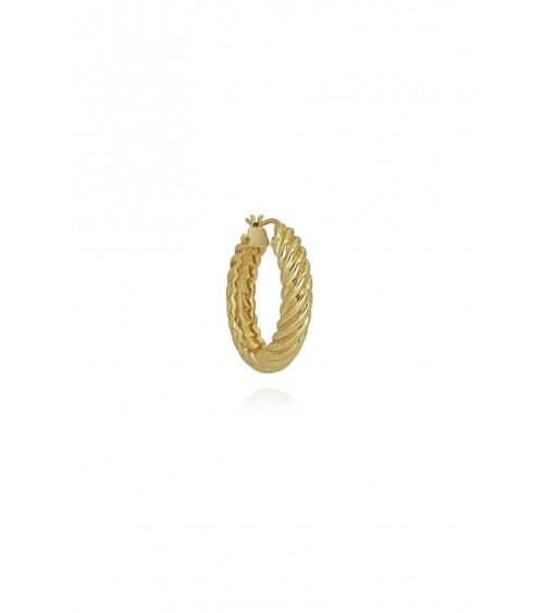 T.I.T.S. Rope Twist Hoop Earring