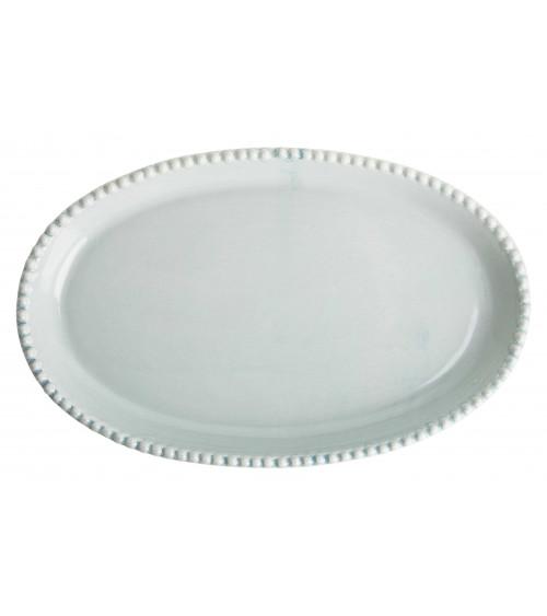 Return to Sender Oval serving dish blue
