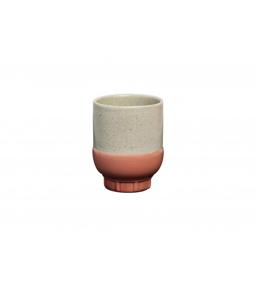 Return to Sender Two colour espresso cup koraal