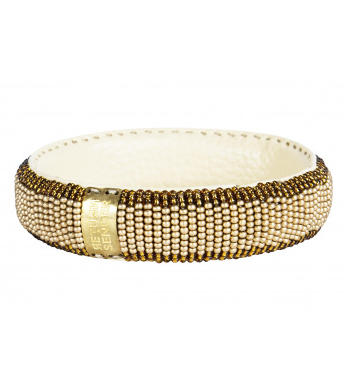 Return to Sender Beaded bracelet slim goud