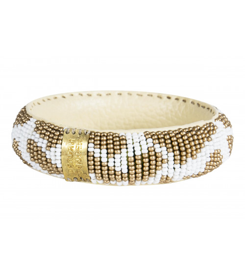 Return to Sender Beaded bracelet slim wit/goud