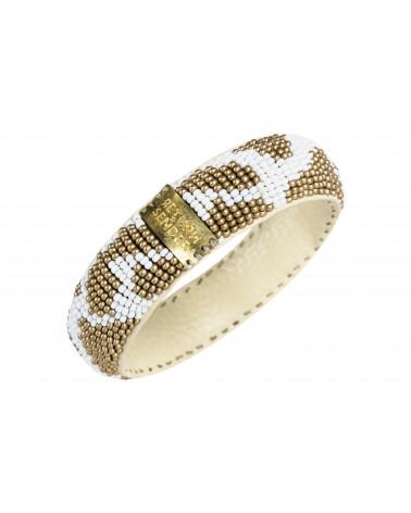 Return to Sender Beaded bracelet slim wit/goud