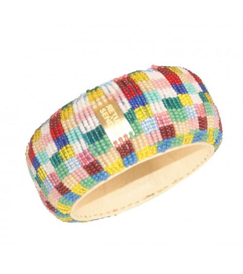 Return to Sender Beaded bracelet broad vierkant