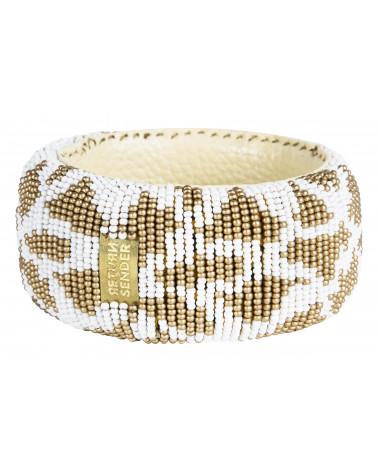 Return to Sender Beaded bracelet broad wit/goud