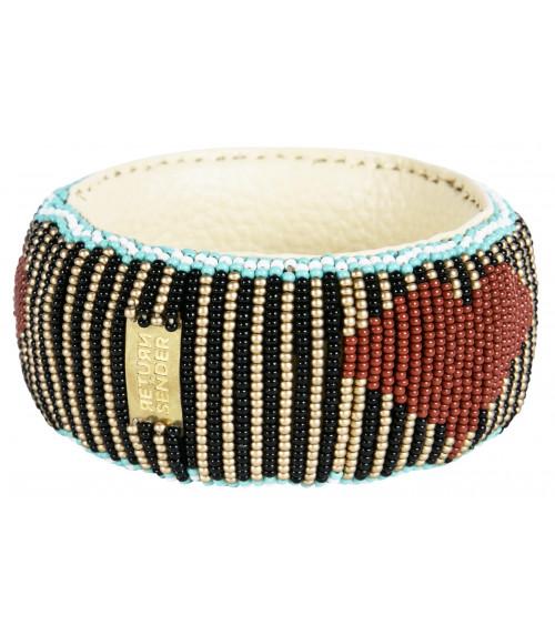 Return to Sender Beaded bracelet broad hartjes
