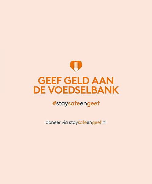 Voedselbank: Stay save en geef